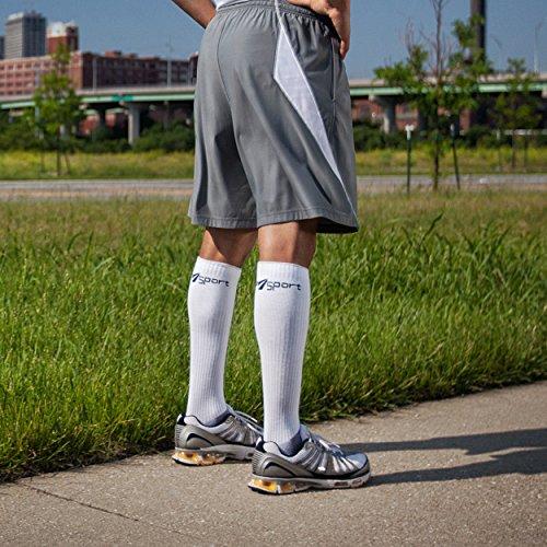 CoreSport Athletic Performance Compression Socks - 15-20mmHg Mild Graduated Compression (White, Medium) by Therafirm (Image #3)