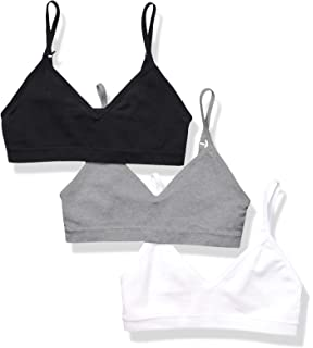 VeaRin Girls Adjustable Straps Seamless Cami Bra with Padding,Lined Training Bra for Girls