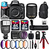 Holiday Saving Bundle for D610 DSLR Camera + 18-140mm VR Lens + Battery Grip + 6PC Graduated Color Filer Set + 2yr Extended Warranty + 32GB Class 10 Memory + Backpack - International Version