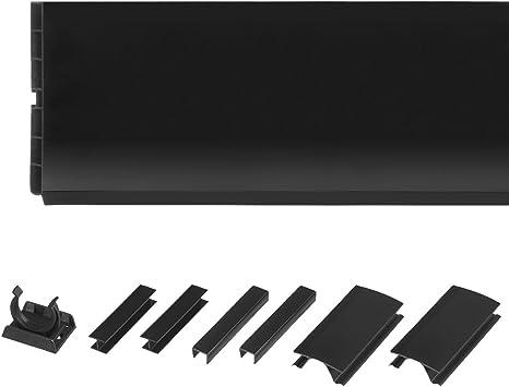 Holzbrink 150cm Sockelblende Sockelleiste Fur Einbaukuche 150mm Hohe Schwarz Hochglanz Hbk15 Amazon De Kuche Haushalt