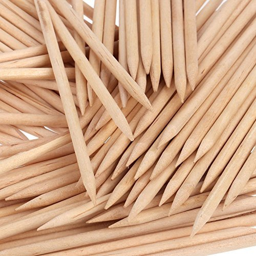 Orange Wood Sticks, Nail Art, Cuticle Pusher Remover, Manicure Pedicure Tool (50 Pieces)