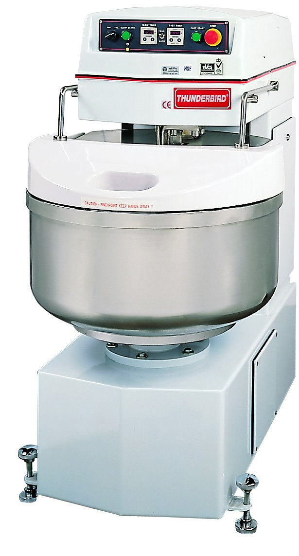 Thunderbird ASP-40 Spiral Mixer, Removable Bowl, Stainless Steel, 22'' x 34'' x 46''
