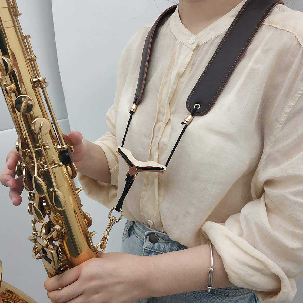 Saxophone Shoulder Neck Adjustable Strap with Metal Hook an for Adults and Children Soft Padded Sax Alto//Tenor//Soprano//Baritone Saxophones
