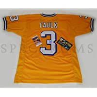 $135 » Kevin Faulk Autographed Signed New LSU Tigers Hand Signed Xl Jersey With JSA COA