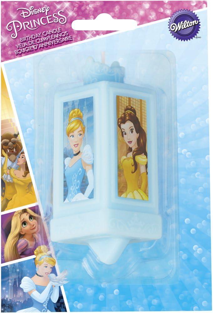 Wilton 2811-7490 Disney Princess Decorative Candle, One size, Assorted