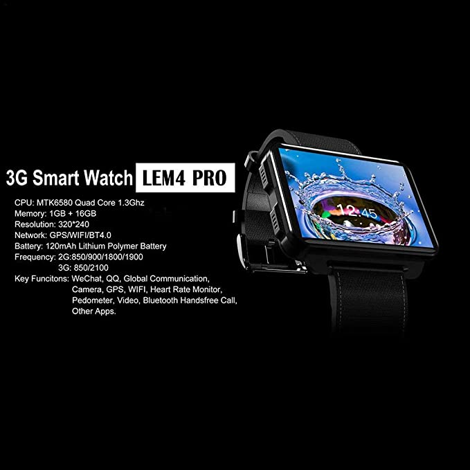 Juan lemfo Android Smart Watch lem4, Bluetooth WiFi Smartwatch ...