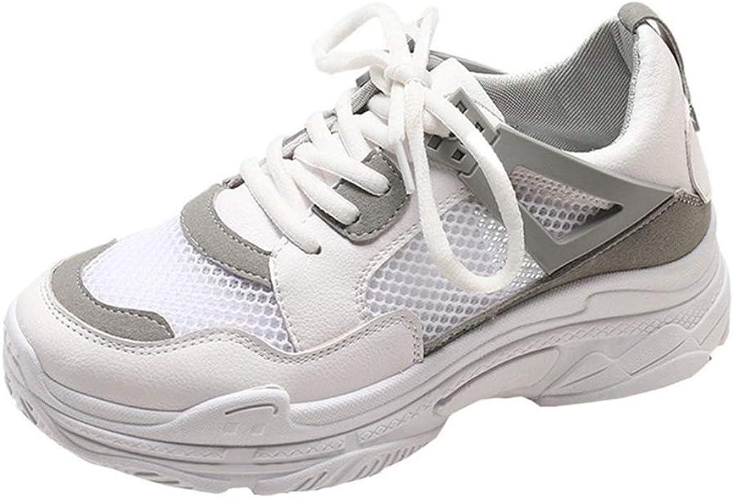 Zapatillas de Correr de Malla Transpirable con Cordones y ...