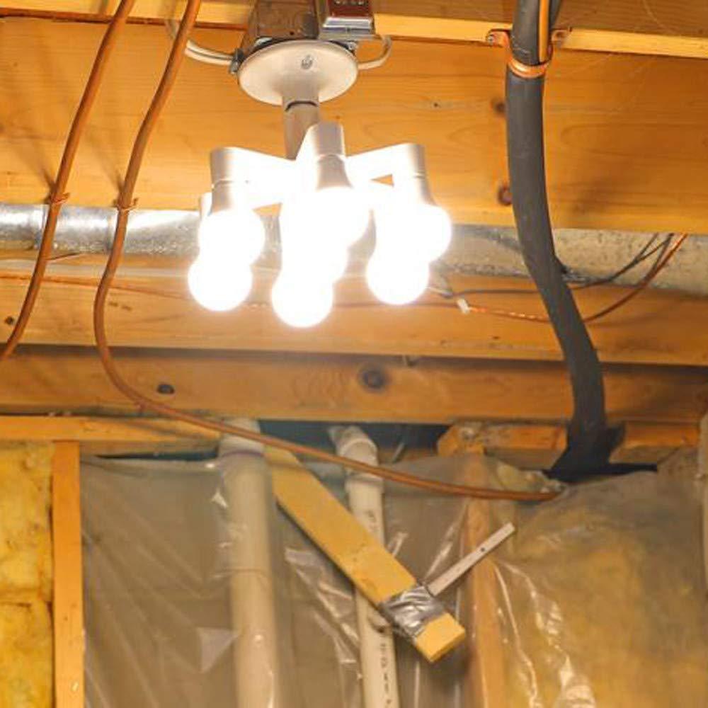 Fireproof Adapter Conventer for Standard LED E27Bulbs,Garage,Kitchen,Dining Room Buedvo 7 in 1 LED Light Bulbs,Multi Light Bulb Adapter Intensified Lighting Fixture