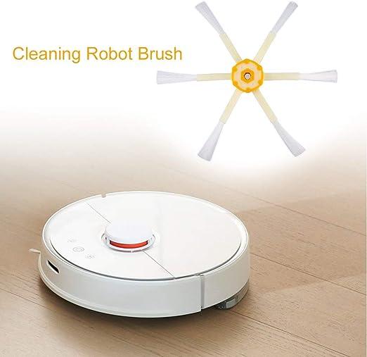Moliies 6 Accesorios de aspiradora de Robot de Barrido con Cepillo Lateral Armado reemplazar Piezas para Roomba 528 595 620 650 760 770 780 790 + Blanco y Amarillo: Amazon.es: Hogar