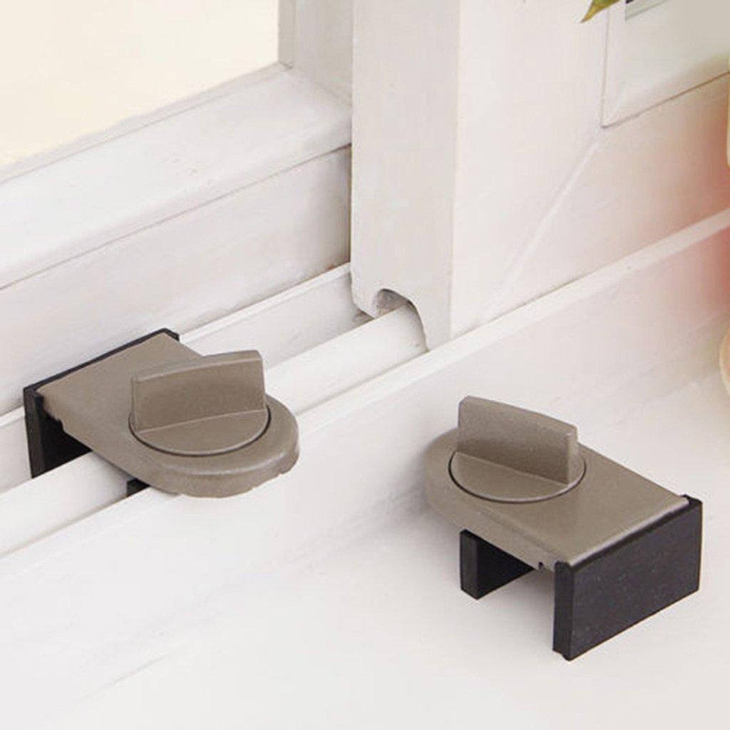 Schleusent/üren Sicherheit Baby Sicherheit Anti-Diebstahl-Sperre Fenster Schiebefl/ügel Stopper