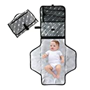 Portable Changing Pad - Baby Diaper Changing Pad with Storage - MAKIT Foam Cushioned BPA Free Changing Mat - Wipeable Waterproof Changing Table for On The Go