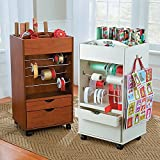 Wellesley Gift Wrap Station Ribbon Organizer Craft Storage Cart (Small Image)