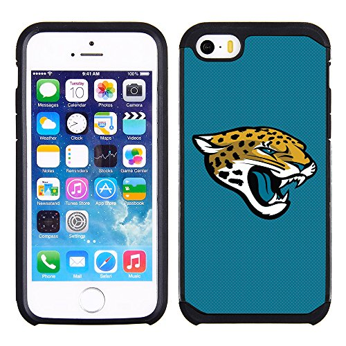 Prime Brands Group Textured Case with Team Color Design for Apple iPhone SE / 5s / 5 - NFL Licensed Jacksonville Jaguars