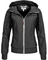 Eight2nine damen jacke mit kapuze kontrast zipper