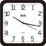Relógio de Parede Quadrado, Bell´s, Preto
