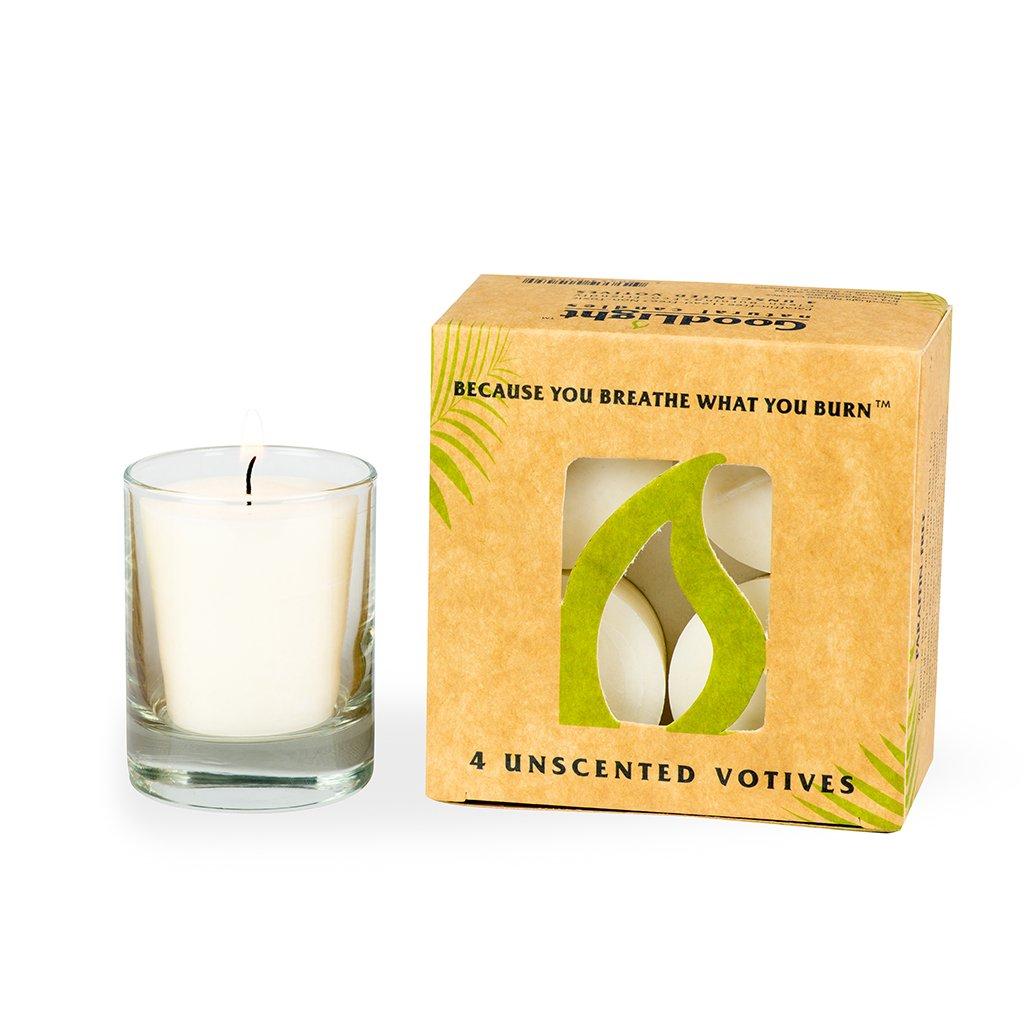 GoodLight Paraffin-free Votive Candles (15-Hour) - Pack of (32) by GoodLight Natural Candles