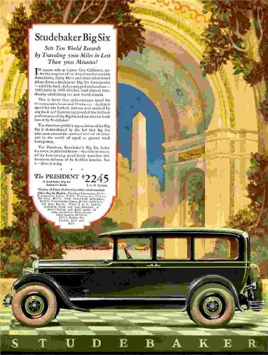 Review Studebaker Auto car Ad