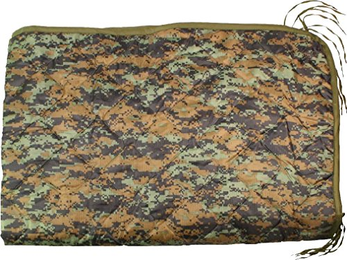 Rip-Stop Poncho Liner With Ties Tactical Military Camouflage 62