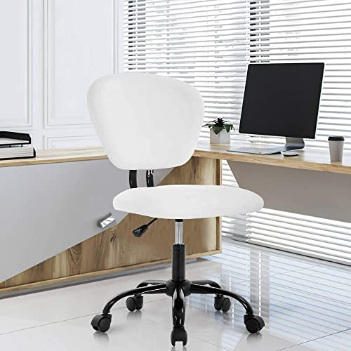 Home Office Chair Ergonomic Executive PU Leather Desk Chair Adjustable Stool Rolling Swivel Rocking Mid Back Computer Task Chair