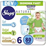 Sleepy Külot Bebek Bezi Beden:6 (15-25Kg) XLarge 80 Adet Dev Ekonomik Pk