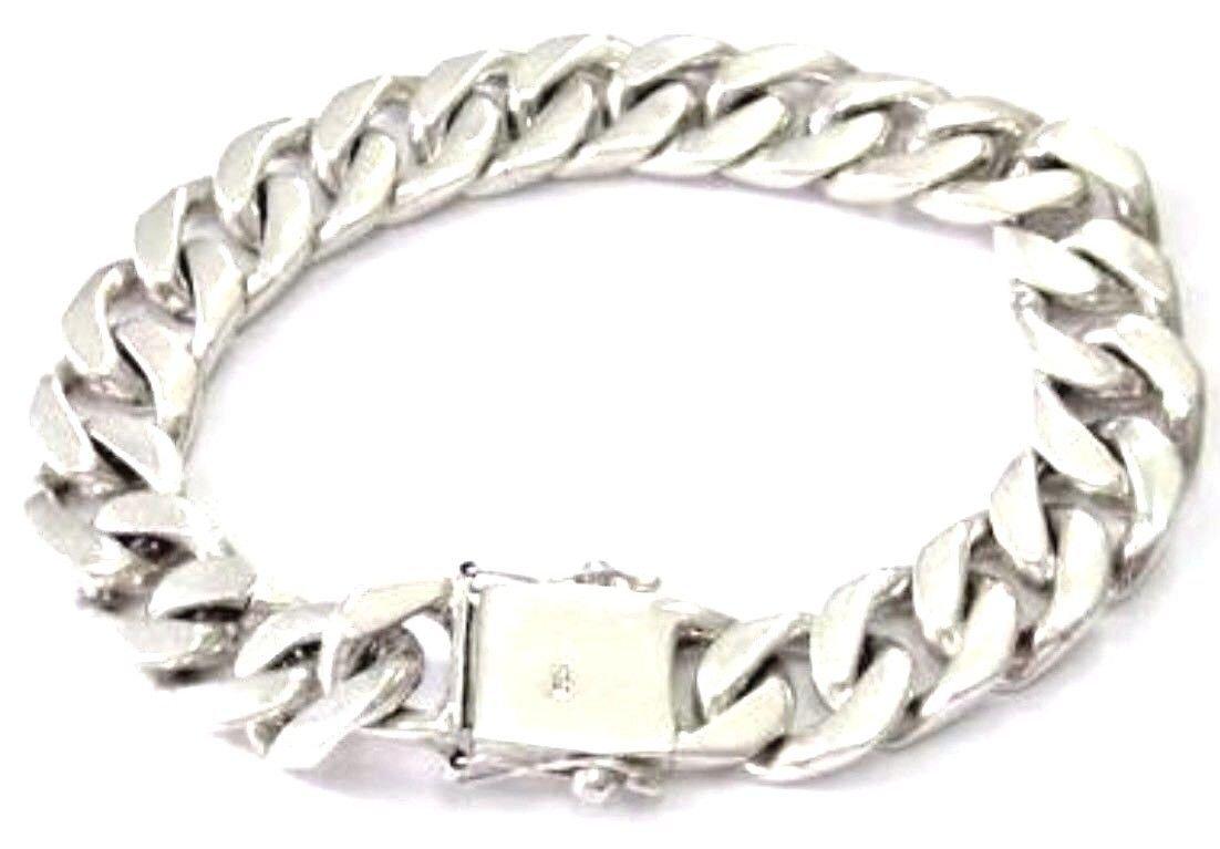 Gift Wrist Handmade Bracelet for Guys Men Sterling Silver 925 Punk Hard Rock Big Bike Friendship