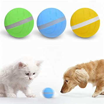 Enjoyment Wicked Ball Pet Toy USB Electronic Wiggling Wobbling Crazy Ball  Jumping Ball LED Rolling Flash Ball Fun Toy- Your Pet's Joy When Home Alone