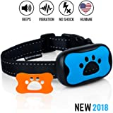 Dog Bark Collar - Stop Dogs Barking Fast! Safe Anti Barking Devices Training Control Collars, Small, Medium and Large pets deterrent. No shock, remote or citronella. Sound, vibration training device