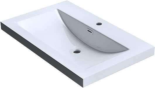 en blanco de 75 cm de ancho Lavabo suspendido//sobre encimera de dise/ño Colossum11 de m/ármol fundido doporro