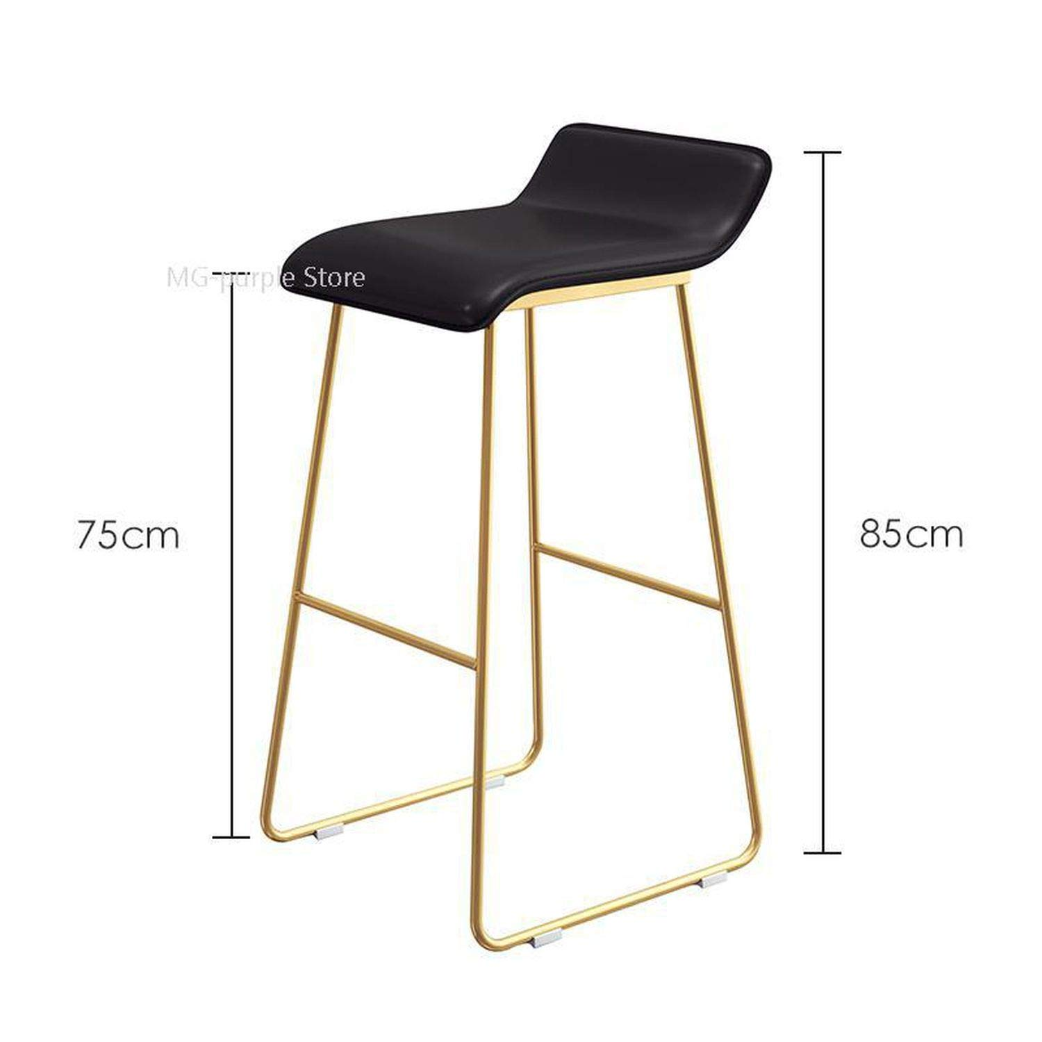 Style 15 one size Bar Chair Coffee Milk Tea Lounge Chair Simple Bar Stool Designer Wrought Iron gold High Chair Padded Bar Chair,Style 13
