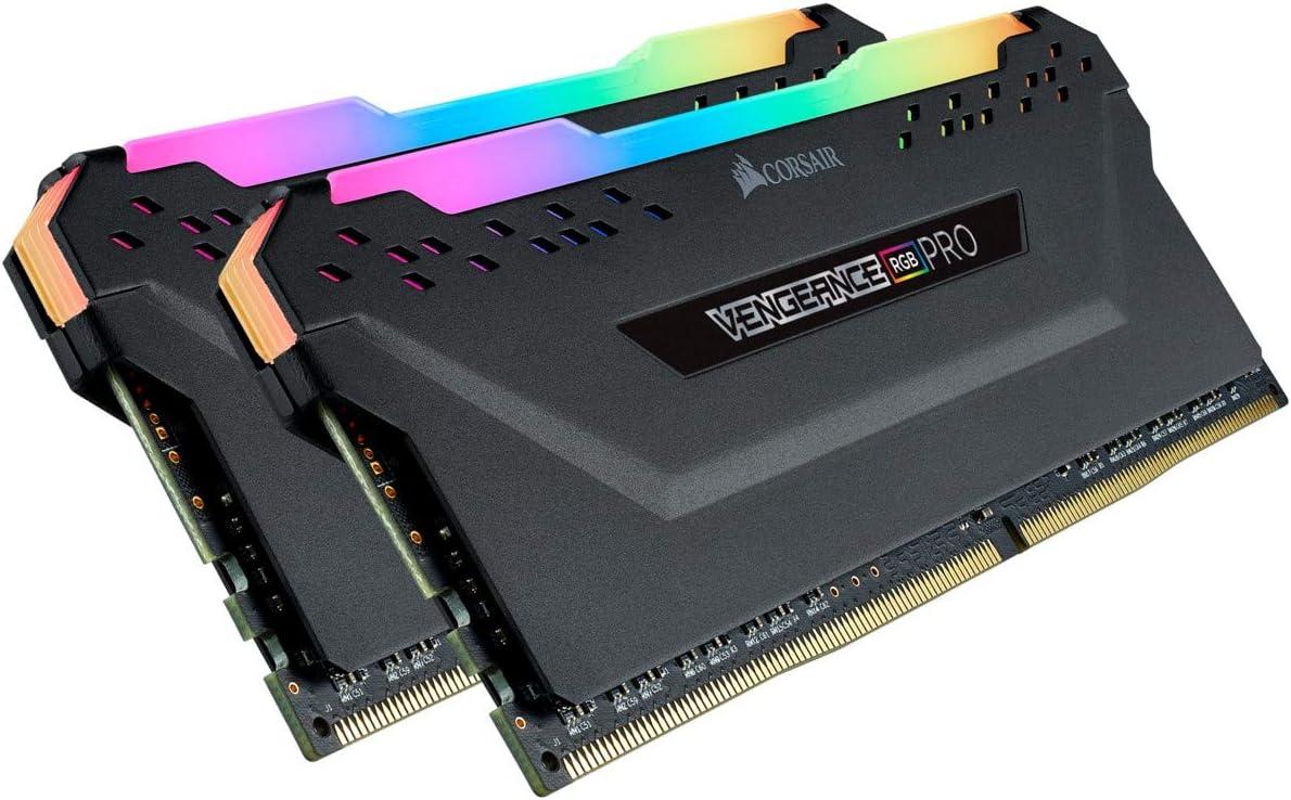 CORSAIR Vengeance RGB PRO 32GB (2x16GB) DDR4 3600 (PC4-28800) C18 Desktop Memory – Black
