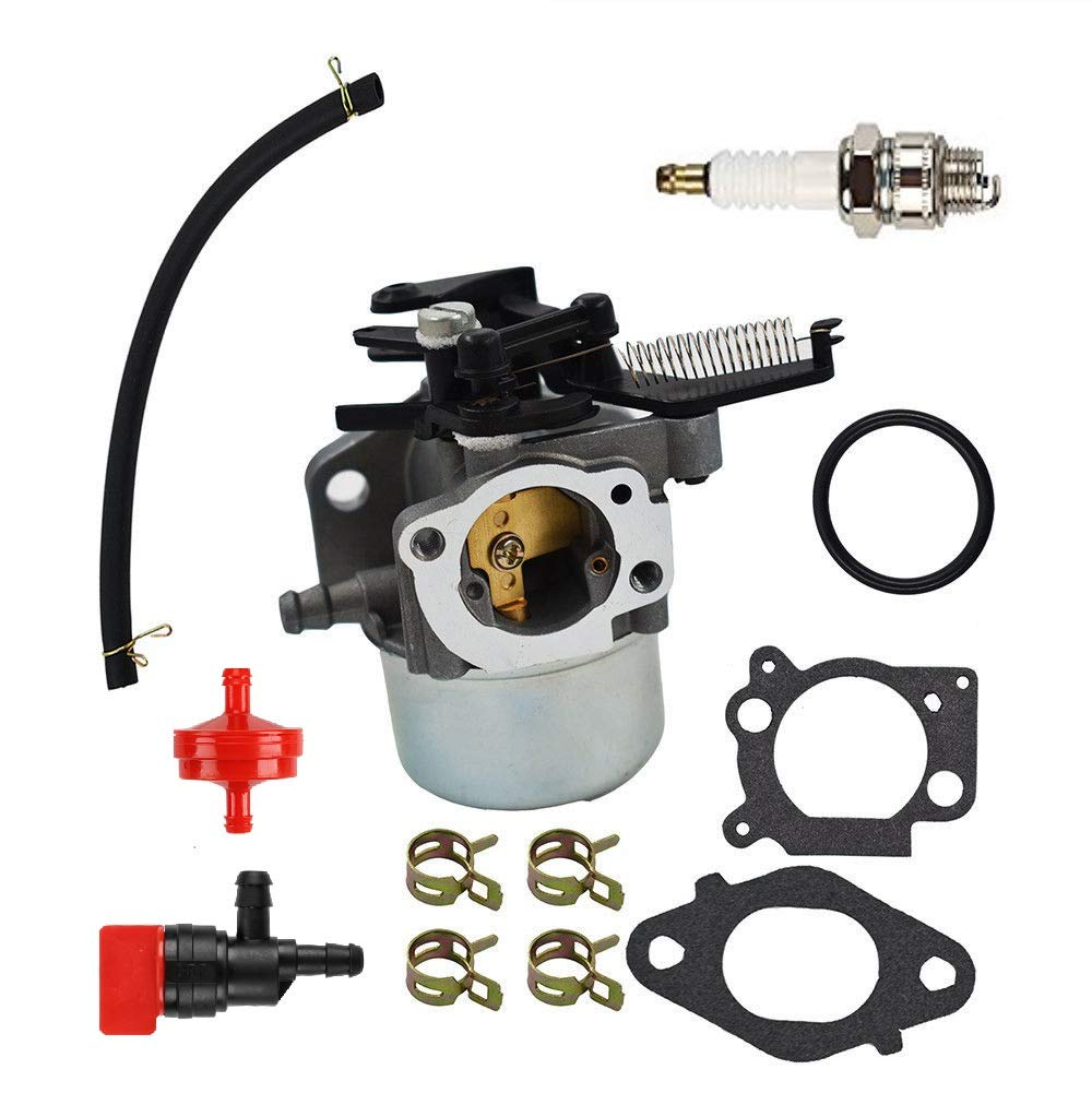 mdairc Carburetor Fuel Line Fuel Filter Gasket Kit for Briggs & Stratton 796608 111000 11P000 121000 12Q000 Engines 2700Psi 3000Psi Troy-Bilt Pressure Washer 7.75Hp 8.75Hp 594287 799248 (796608)