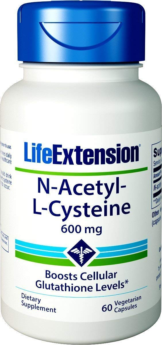 Life Extension N-Acetyl L-Cysteine 600 Milligrams, 60 Veg Caps Pack of 4