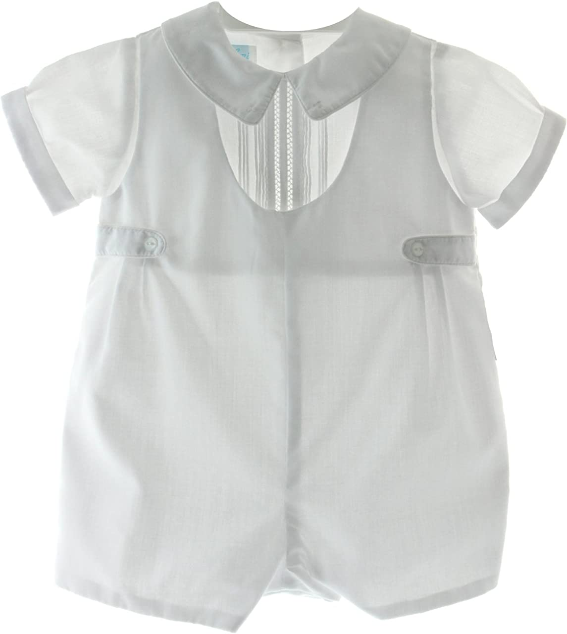 Hiccups Childrens Boutique Boys Dressy Bubble Outfit Peter Pan Collar Christening Romper