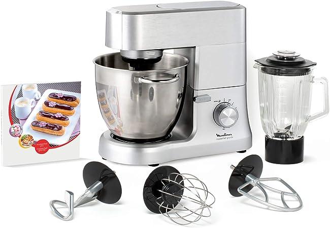 Moulinex Masterchef QA810D01 - Robot de cocina y repostería profesional 1500 W con kit de masas metálico, bol XL de 6,7 L, 4 posibilidades de accesoríos compatibles, de acero inoxidable: Amazon.es: Hogar