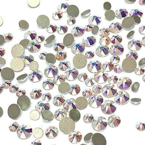 - Crystal AB (001 AB) 2088 Xirius Swarovski Mixed Sizes ss12 ss16 ss20 Flatbacks No Hotfix Round Rhinestones