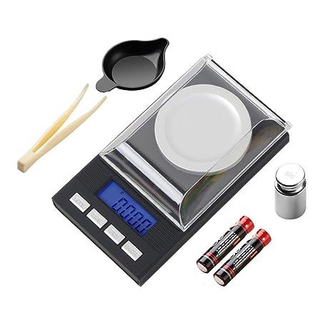 Báscula Digital para Cocina, Digital Báscula Balanza de Alimentos Multifunciona de Alta Precisa 50g/