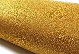 Peel & Stick Glitter Sand Bubble Free Interior Film [Gold : 30cm(11.81 inch) X 122cm(48.03 inch)] Peel & Stick Wall Decor Self-Adhesive Wallpaper