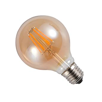 LEDMOMO Bombillas Edison 6W Bombillas LED Retro Vintage Bombilla de bayoneta Bombilla LED Filamento Blanco cálido