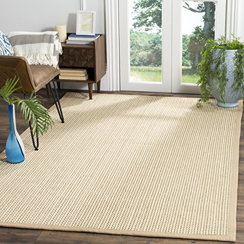Safavieh Natural Fiber Collection NF475B Hand Woven Beige Wool & Sisal Area Rug (8' x 10')