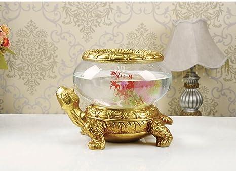 European Creativa Tortuga Acuario artesanía Sala de Estar TV Muebles hogar decoración Feng Shui Lucky Decoración
