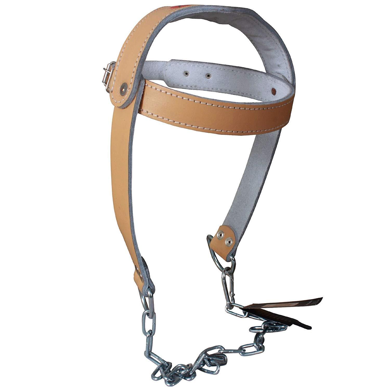 TurnerMAX Rindleder-Leder-Kopfgeschirr mit Kette