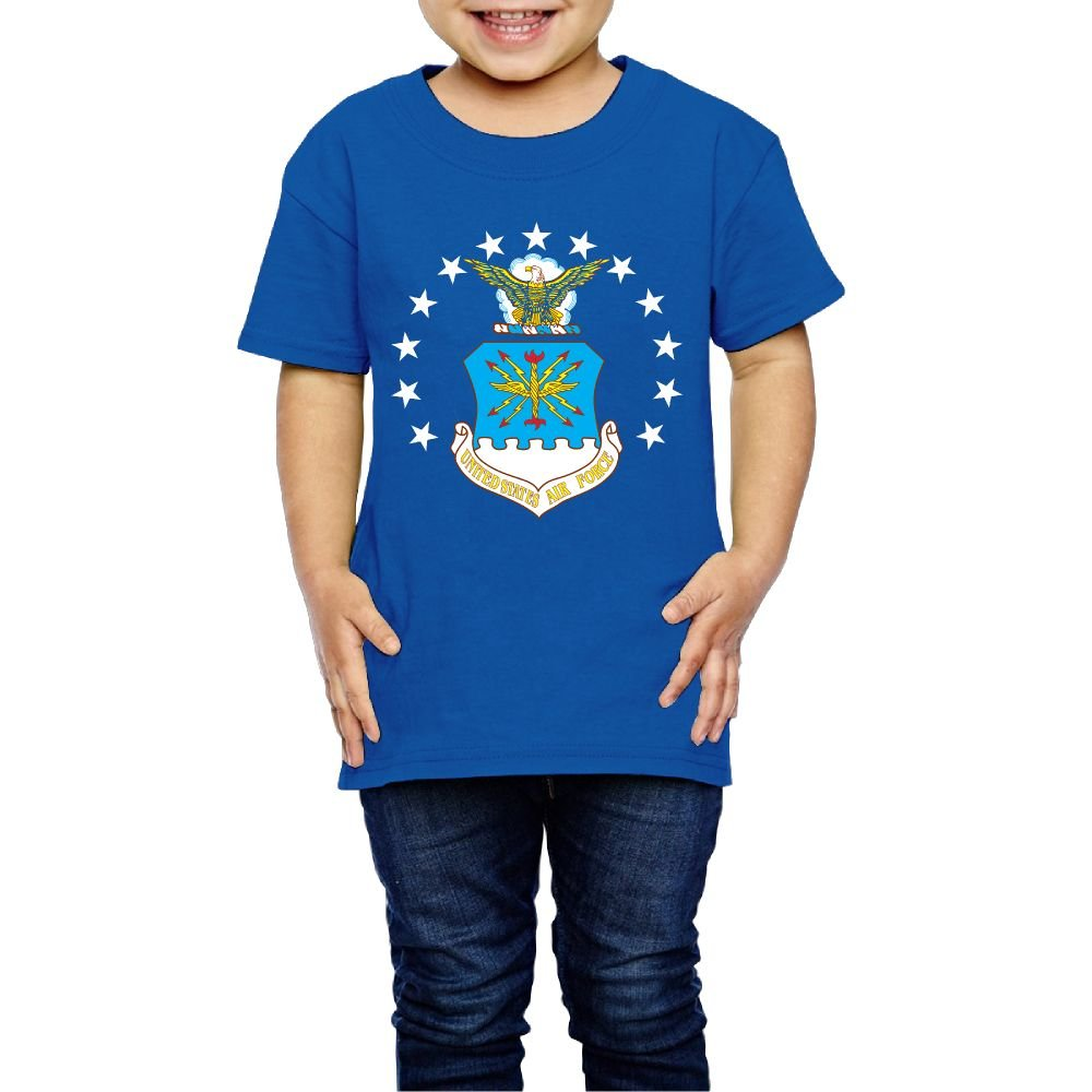 Girls USAF Flag Tshirts Photoshoots Or Hiking Camping Travel Vacation T-Shirt Or Daily Wear RoyalBlue 3 Toddler