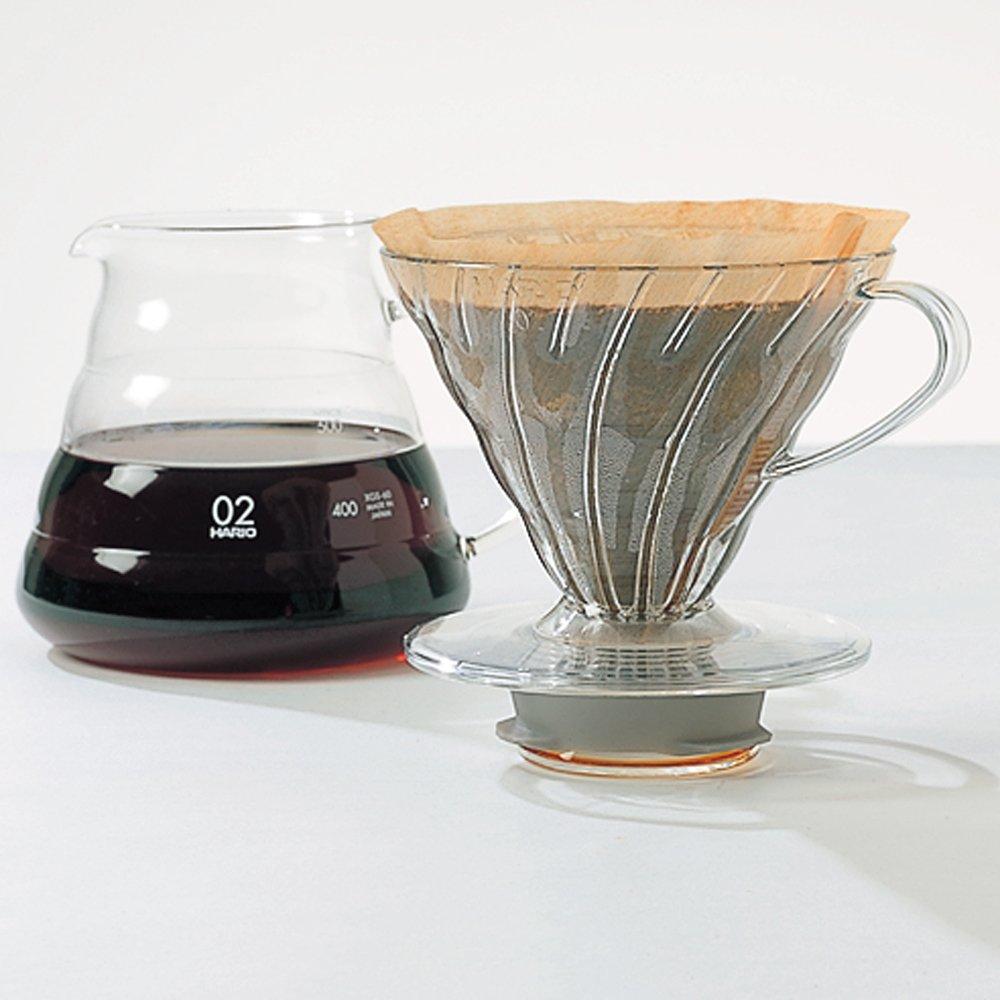 Hario V60clear Glass Range Coffee Server 360ml Xgs 36tb Paper Filter Vcf 02 100mk Serveware Home Kitchen Tibs
