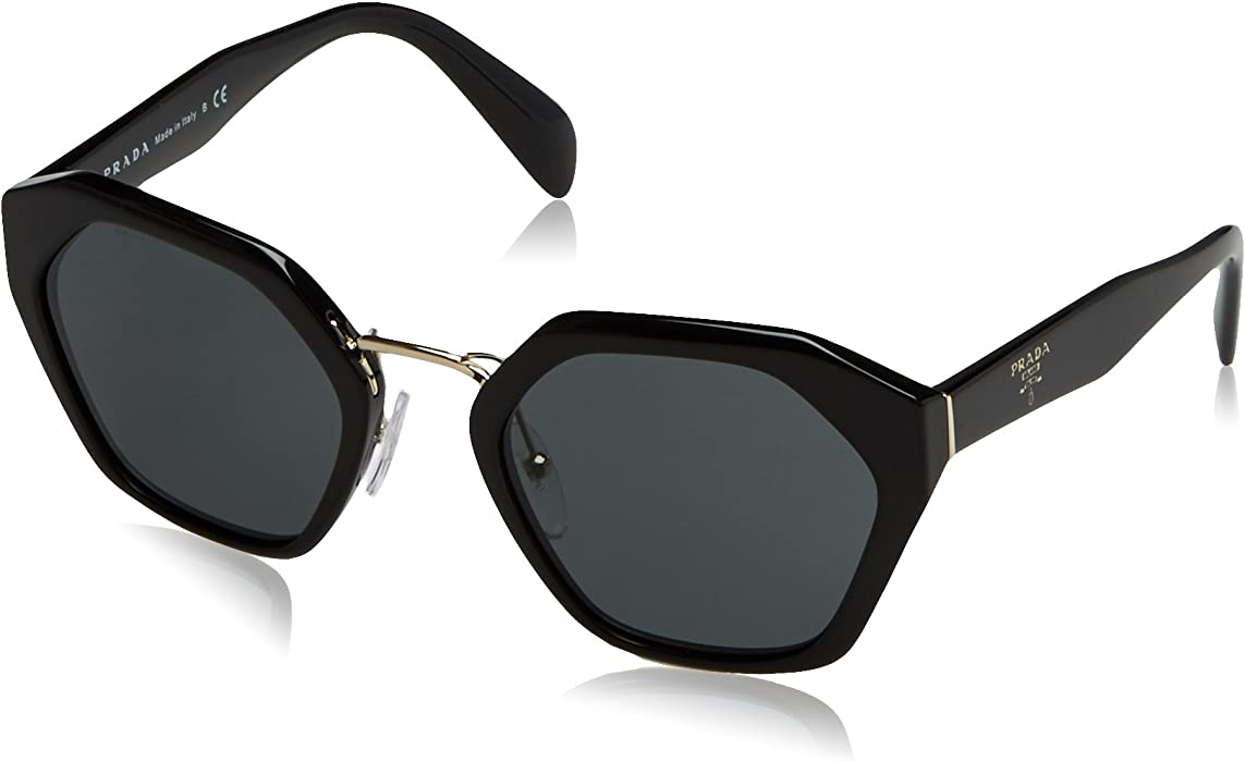70c7111887 Prada PR04TS 1AB1A1 Round Sunglasses