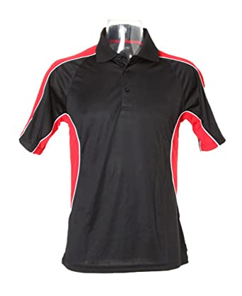 Gamegear Cooltex Active Polo Shirt kk938 schwarz/rot groß