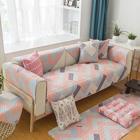 Yijiayun - Funda Protectora para sofá de algodón y Lino ...