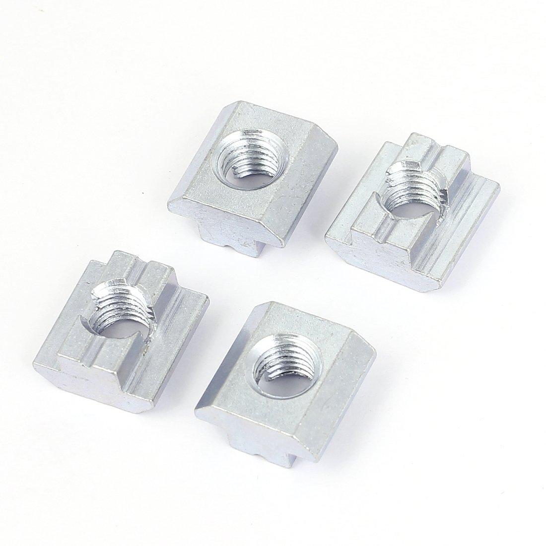 Sourcingmap/® M10/45/S/érie M/étal T-Slot /Écrou coulissant Block fente Nuts 4/pcs
