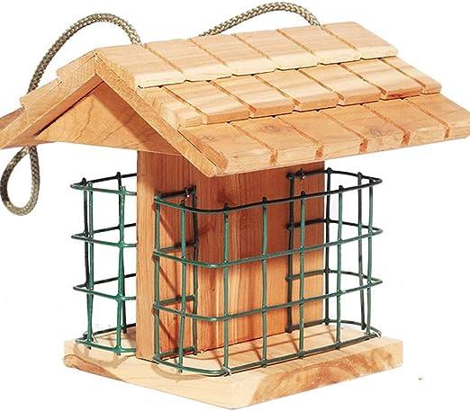 YQCSLS Casa de pájaros Caja Nido de Madera Jardín al Aire Libre ...