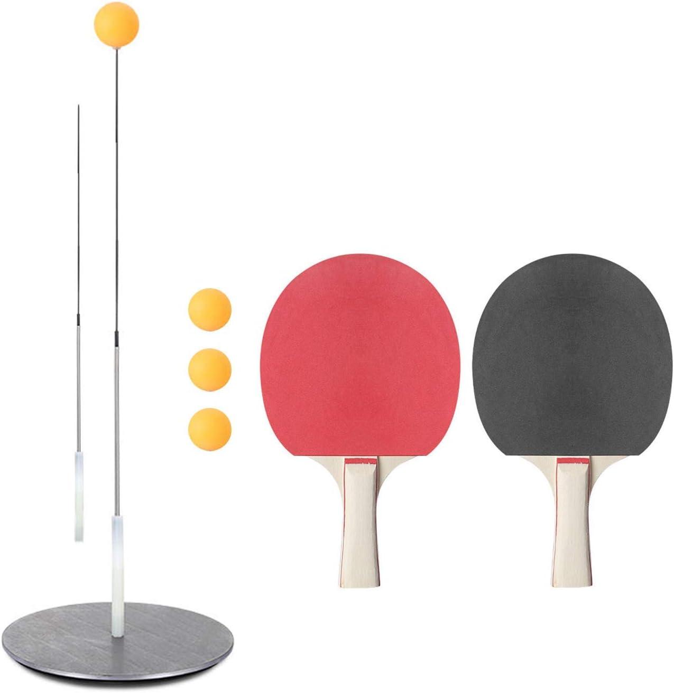 VAN+ Kit de Equipo de Entrenamiento Entrenador de Tenis Juego de Palas Pelotas de Tenis de Mesa para niños Adultos Juegos Interior al Aire Libre Entrenador de Tenis de Mesa- A