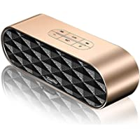 ZoeeTree S3, Altavoz Bluetooth portatiles, Subwoofer Inalámbrico, Altavoces pc sobremesa 4.2 Estéreo con 10W Driver Doble, 3.5mm AUX/USB/Tarjetas, TF Entrada, Oro